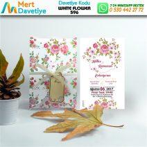 1,000 ADET WHİTE FLOWER MODEL-596