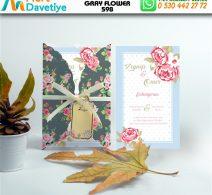 1,000 ADET GRAY FLOWER MODEL-598