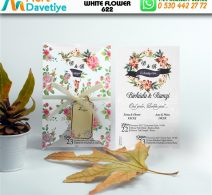 1,000 ADET WHİTE FLOWER MODEL-622