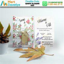 1,000 ADET WHİTE FLOWER MODEL-623
