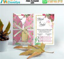 1,000 ADET PINK FLOWER MODEL-624