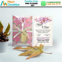 1,000 ADET PINK FLOWER MODEL-627