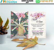 1,000 ADET GRAY FLOWER MODEL-627