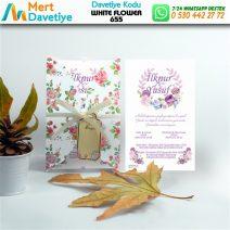 1,000 ADET WHİTE FLOWER MODEL-655