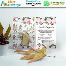 1,000 ADET WHİTE FLOWER MODEL-657