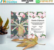 1,000 ADET GRAY FLOWER MODEL-657