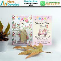 1,000 ADET WHİTE FLOWER MODEL-658