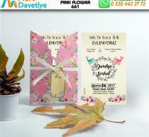 1,000 ADET PINK FLOWER MODEL-661