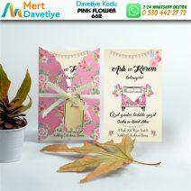 1,000 ADET PINK FLOWER MODEL-662