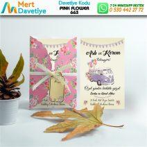 1,000 ADET PINK FLOWER MODEL-663
