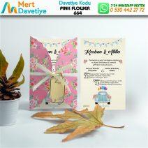 1,000 ADET PINK FLOWER MODEL-664