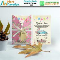 1,000 ADET PINK FLOWER MODEL-665