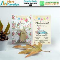1,000 ADET WHİTE FLOWER MODEL-665