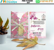 1,000 ADET PINK FLOWER MODEL-667