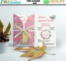 1,000 ADET PINK FLOWER MODEL-668