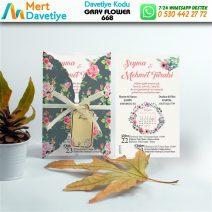 1,000 ADET GRAY FLOWER MODEL-668