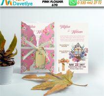 1,000 ADET PINK FLOWER MODEL-670
