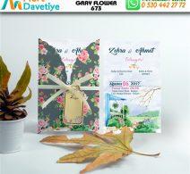 1,000 ADET GRAY FLOWER MODEL-673