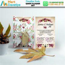 1,000 ADET WHİTE FLOWER MODEL-687