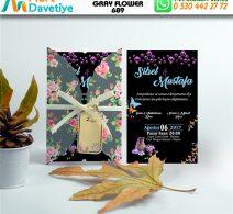 1,000 ADET GRAY FLOWER MODEL-689