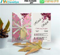 1,000 ADET PINK FLOWER MODEL-697
