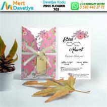 1,000 ADET PINK FLOWER MODEL-703