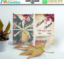 1,000 ADET GRAY FLOWER MODEL-704