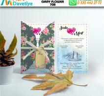 1,000 ADET GRAY FLOWER MODEL-708