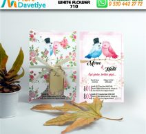 1,000 ADET WHİTE FLOWER MODEL-710