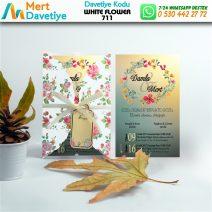 1,000 ADET WHİTE FLOWER MODEL-711