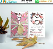 1,000  ADET PINK FLOWER MODEL-713