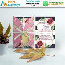 1,000  ADET PINK FLOWER MODEL-714