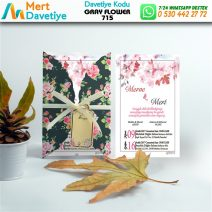 1,000 ADET GRAY FLOWER MODEL-715
