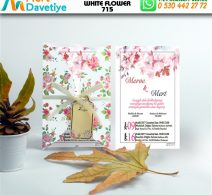 1,000 ADET WHİTE FLOWER MODEL-715