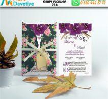 1,000 ADET GRAY FLOWER MODEL-716