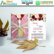 1,000  ADET PINK FLOWER MODEL-718