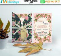 1,000 ADET GRAY FLOWER MODEL-720