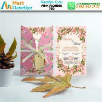 1,000  ADET PINK FLOWER MODEL-720