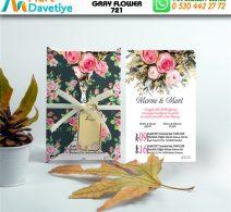 1,000 ADET GRAY FLOWER MODEL-721