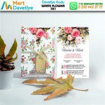 1,000 ADET WHİTE FLOWER MODEL-721