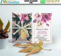 1,000 ADET GRAY FLOWER MODEL-722