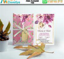 1,000  ADET PINK FLOWER MODEL-722