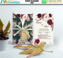 1,000 ADET GRAY FLOWER MODEL-723
