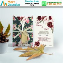 1,000 ADET GRAY FLOWER MODEL-723