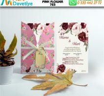 1,000 ADET PINK FLOWER MODEL-723