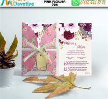 1,000 ADET PINK FLOWER MODEL-724