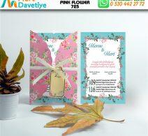 1,000 ADET PINK FLOWER MODEL-725