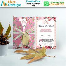 1,000 ADET PINK FLOWER MODEL-726