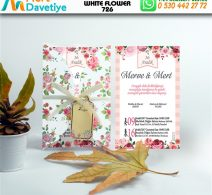1,000 ADET WHİTE FLOWER MODEL-726