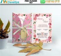 1,000 ADET PINK FLOWER MODEL-727